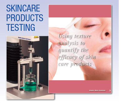Skincare products testing