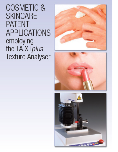Cosmetic and skincare patent applications employing the TA.XTplus