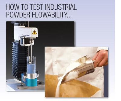 How to test industrial powder flowability
