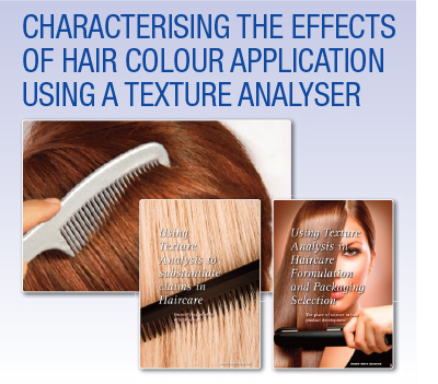 Characterising the effects of hair colour application using a texture analyser