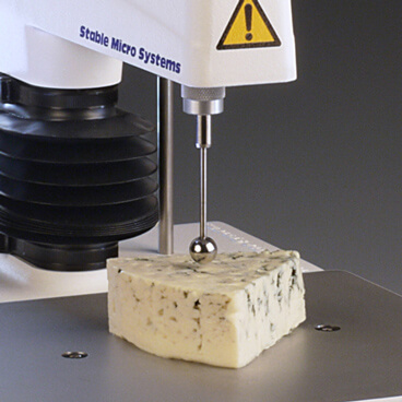 Spherical probe testin cheese sample