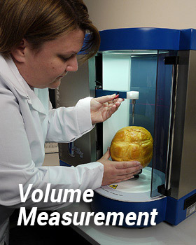 Setting up bread volume test