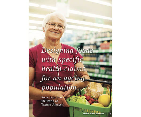 Designing foods with specific health claims for an ageing population article