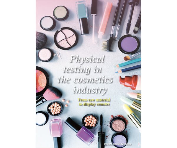 Physical testing in the cosmetics industry article