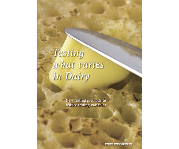 Tesing what varies in Dairy article