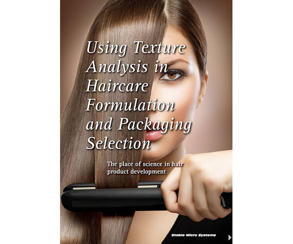 Texture analysis in haircare formulation article