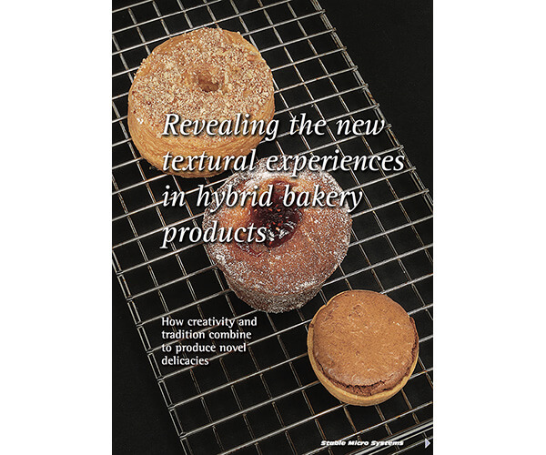 Revealing the new textural experiences in hybrid bakery products article