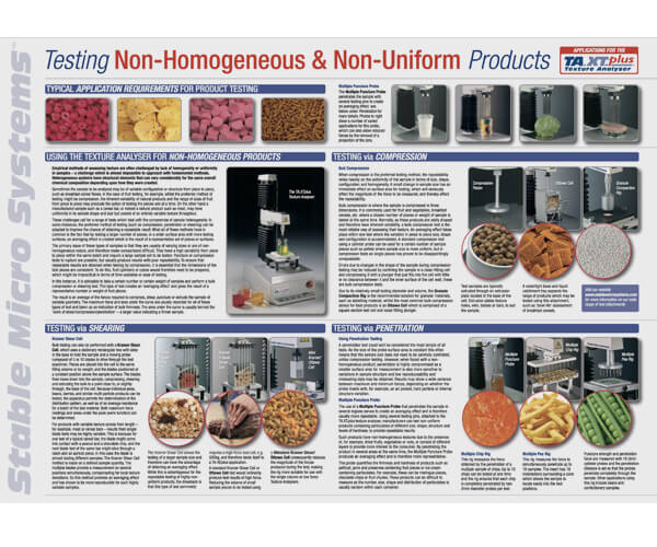 Testing non-homogeneous and non-uniform products sheet