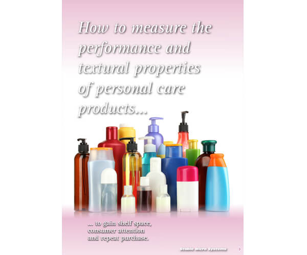 How to measure the performance and textural properties of personal care products article