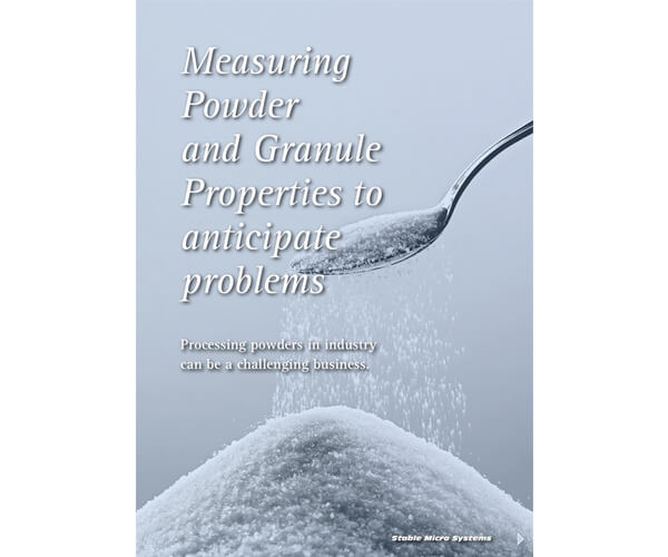 Measuring Powder and Granule Properties article
