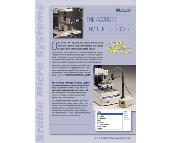 Acoustic Envelope Detector brochure