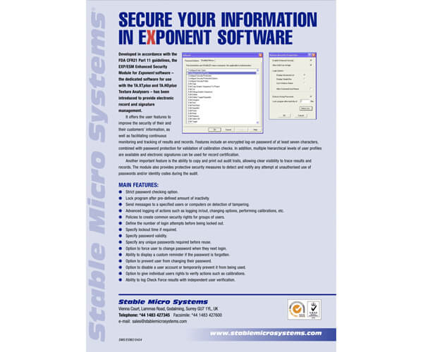 Enhanced Security Module brochure