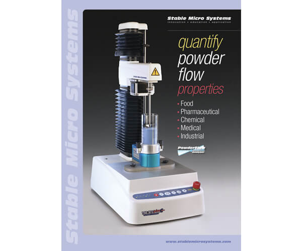 Powder Flow Analyser brochure