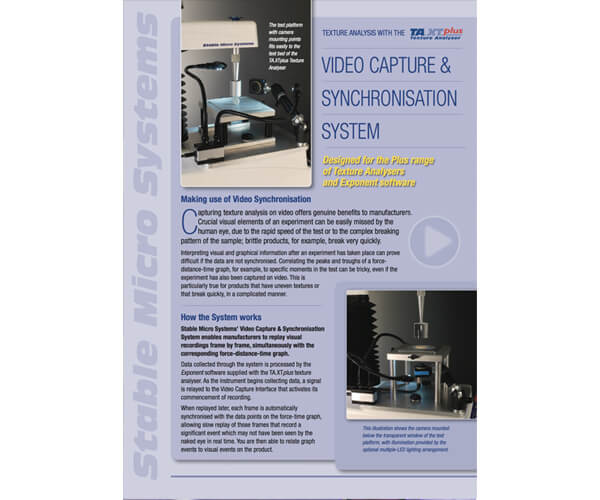 Video Capture and Synchronisation brochure