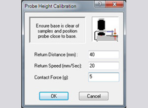 Probe height window