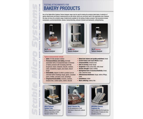 Bakery applications brochure