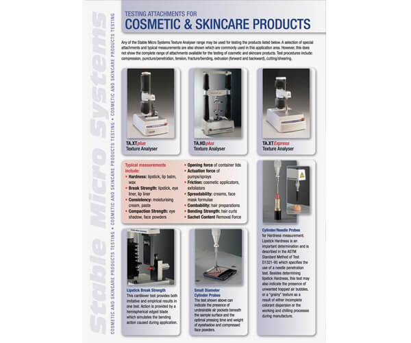 Cosmetics and Skincare applications brochure