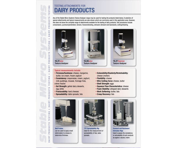 Dairy applications brochure