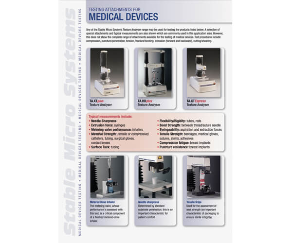 Medical Devices applications brochure