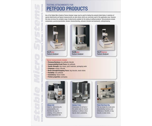 Petfood and Animal Feed applications brochure
