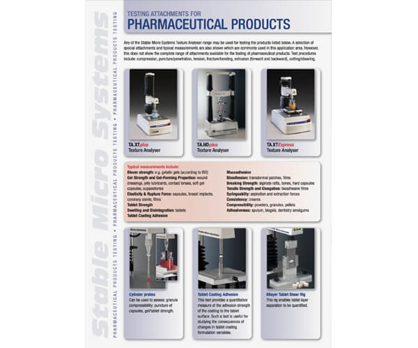 Pharmaceutical and Medical applications brochure