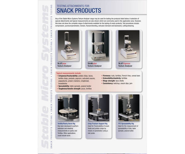 Snack Products applications brochure